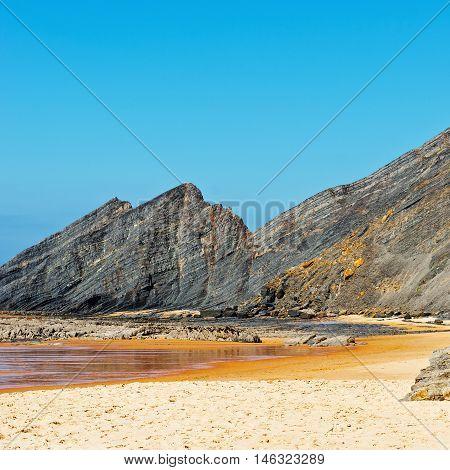 The Beach of Atlantic Ocean in Portugal