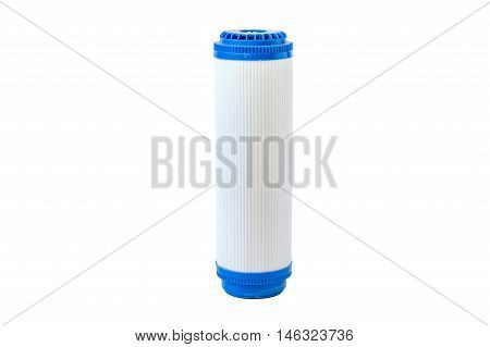 Cartridges For Water Filter Isolated On White Background, Used Water Filter