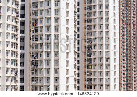 Downtown residential building facade