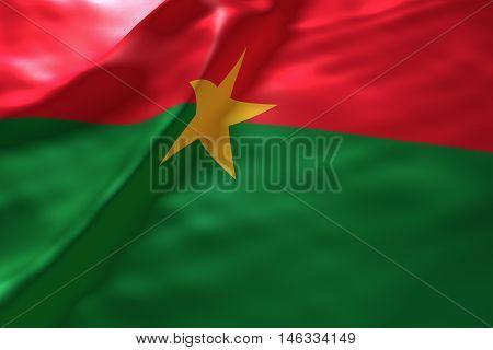 Burkina Faso flag background , 3d rendering image