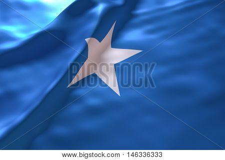 Somalia flag background , 3d rendering image