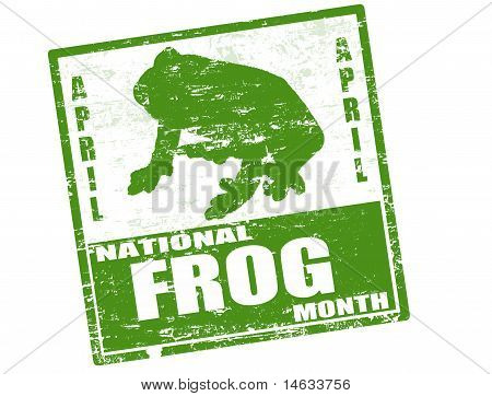 National Frog Month Stamp