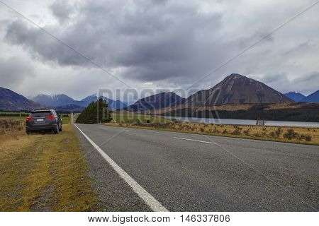 arthur's pass national park important traveling destination in south island new zealand