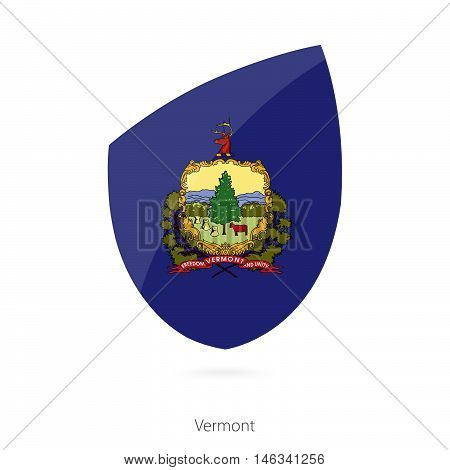 Flag of Vermont in the style of Rugby icon. Vector Illustration.