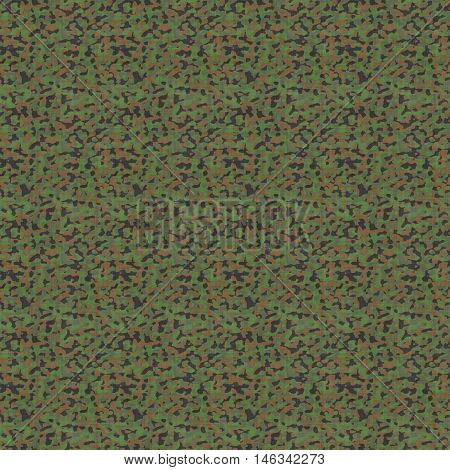 Abstract camouflage pattern. Seamless camo texture for backgrounds, simulation, design. Computer-generated image
