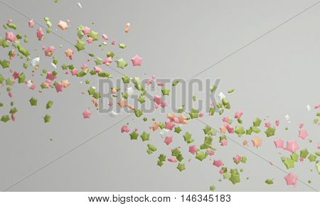 Pastel color candy background pink and green 3d rendering lovely pastel background