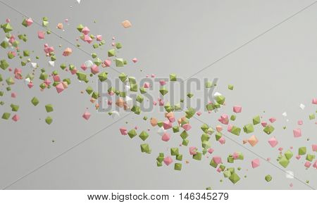 Pastel color candy background pink and green lovely pastel background 3d rendering