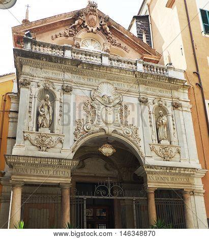 Santa Maria Maddalena Church Of Genova, Italy.