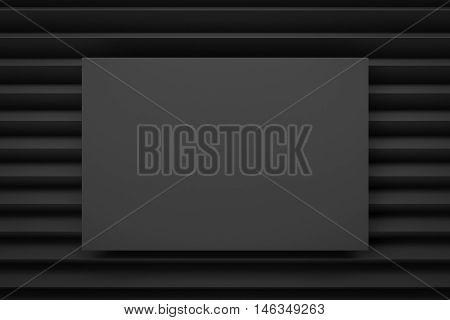 black zig zag layout background 3d render