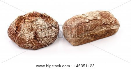 Fresh bread separate on white background isolated