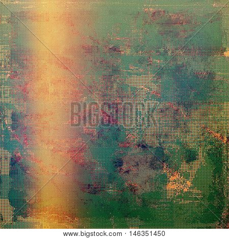 Grunge background with vintage style graphic elements, retro feeling composition and different color patterns: yellow (beige); brown; green; blue; red (orange); purple (violet)
