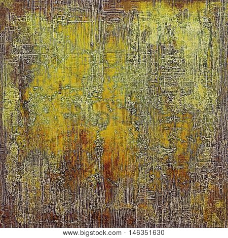 Vintage mottled frame, textured grunge background with different color patterns: yellow (beige); brown; green; gray; red (orange)