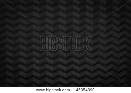 black zig zag saw background with copy space 3d render