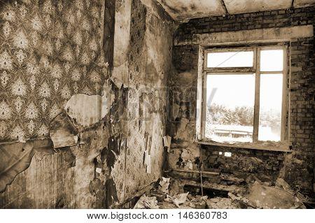 Lost city.Near Chernobyl area.Kiev region,Ukraine