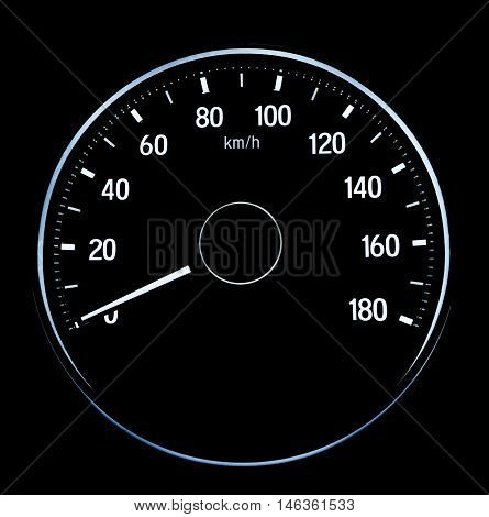 Speed measurement on auto car crop single