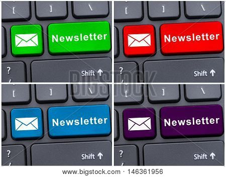 Laptop Keyboard Button With Newsletter
