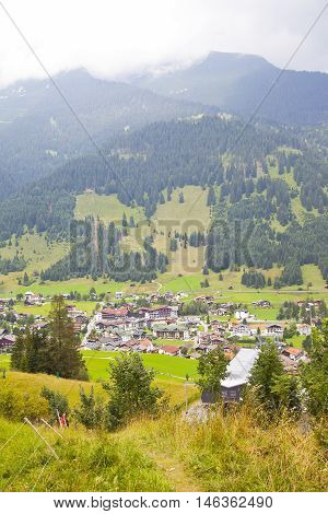 View at little village Lermoos in Tirol Austria Europe