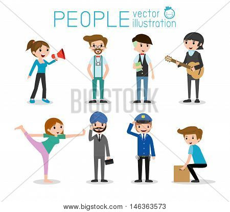 people characters, large group of people,People in various lifestyles,