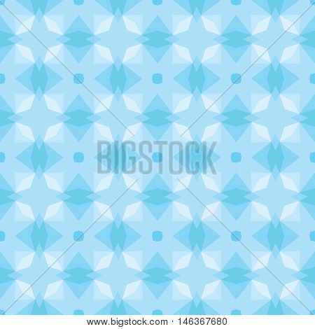 Seamless illustrated pattern in shades of blue