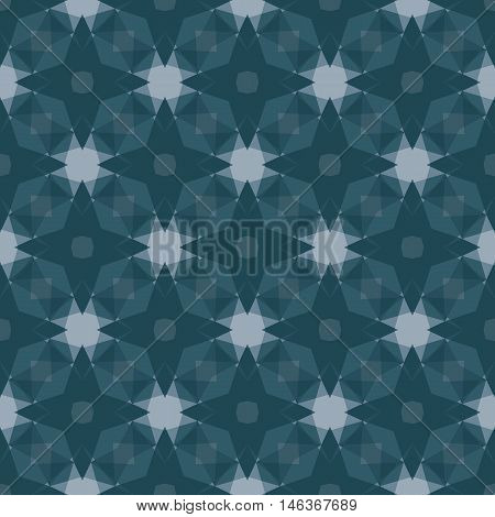 Seamless illustrated pattern in shades of dark blue