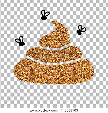 Image of gold glitter shit. White background. vector illustration EPS 10