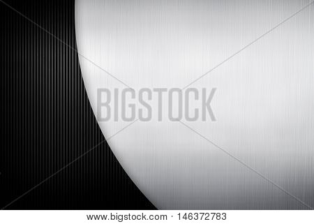 metal design with striped background