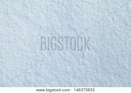 Surface of fresh snow in winter, macro shot