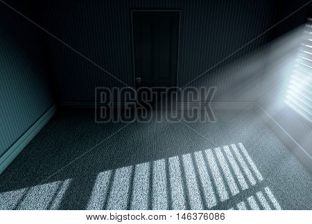 Moonlight Into Empty Room