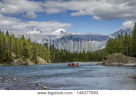 Rafting On A Mountain River - Jasper National Park, Canada