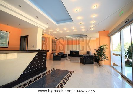 Luxury Hotel lobby reception area