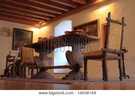 Dinning room old a medieval castle  - Predjama Slovenia