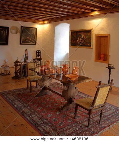 Interior of the Medieval castle of Predjama in Slovenia