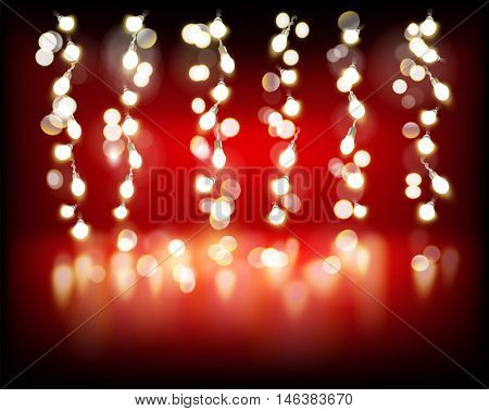 Chain of lights. Vector illustration.
