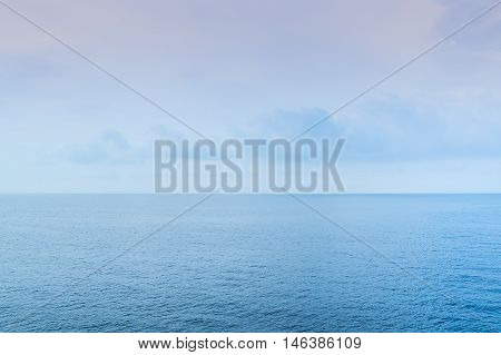 horizon in the background of the sky and the sea
