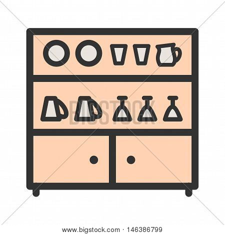 Shelf, house, wood icon vector image. Can also be used for home. Suitable for use on web apps, mobile apps and print media.
