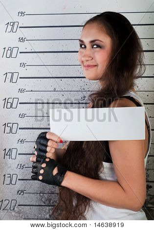 Smiling Girl In Prison