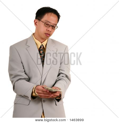 Handcuffed Biz Man Receive Money