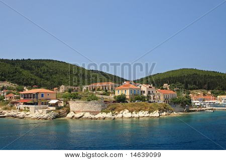 The harbour at Fiskardo on the greek island of Kefallonia