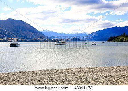 Lake Wanaka Landscape In New Zealand