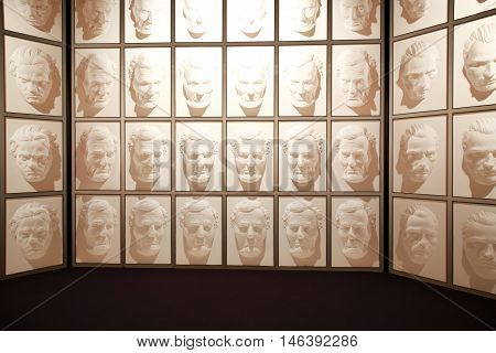 Wanaka, New Zealand - Febr 5, 2015: Hall Of Following Faces At Puzzling World