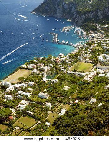 Marina Grande on Capri island Campania Italy