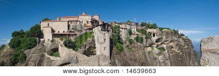 Great meteoron monastery Meteora Thessalia central  Greece