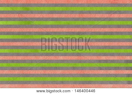 Watercolor Pink, Green And Grey Striped Background.