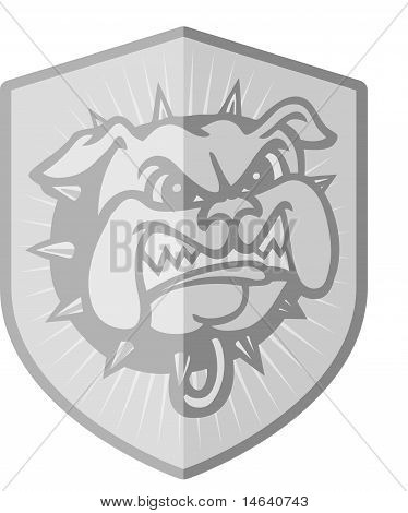 Security Badge Dog Silver