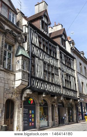 Ancient Half-timbered Houses In Dijon, France
