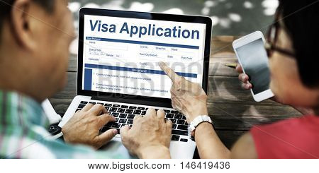 Visa Application Technology Form Concept