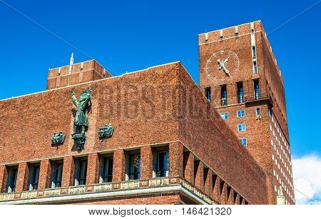 Details of the Oslo City Hall - Norway