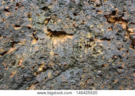 stone texture background with Black gray surface