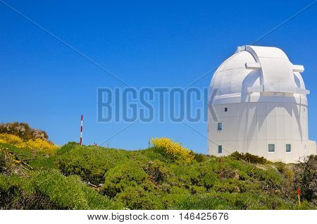 Telescope Of Teide Astronomical Observatory In Tenerife, Canary