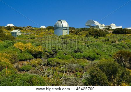 Buildings Of Teide Astronomical Observatory In Tenerife, Canary